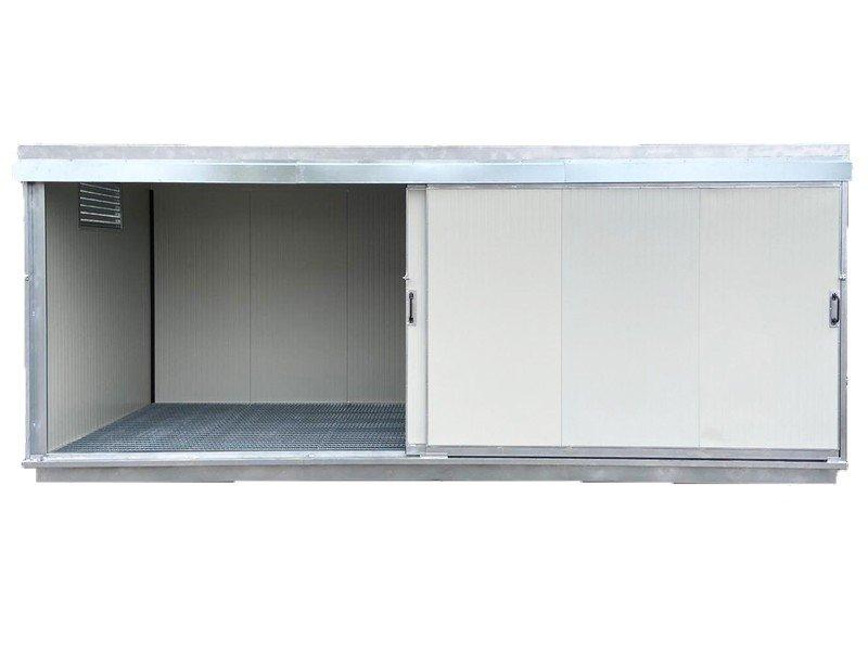Container mit Auffangwanne - gedämmt - 800 x 240 - H 240