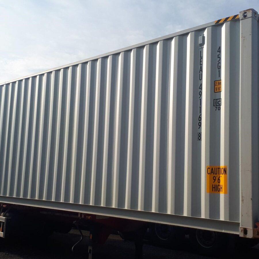 Seecontainer 40' HC Neu Erste Reise